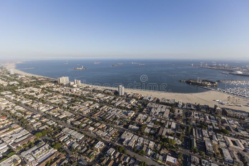 Antena de Long Beach Califórnia imagens de stock