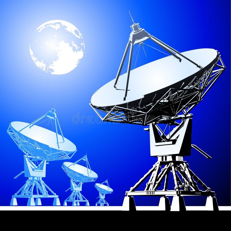 Antena de los platos basados en los satélites libre illustration