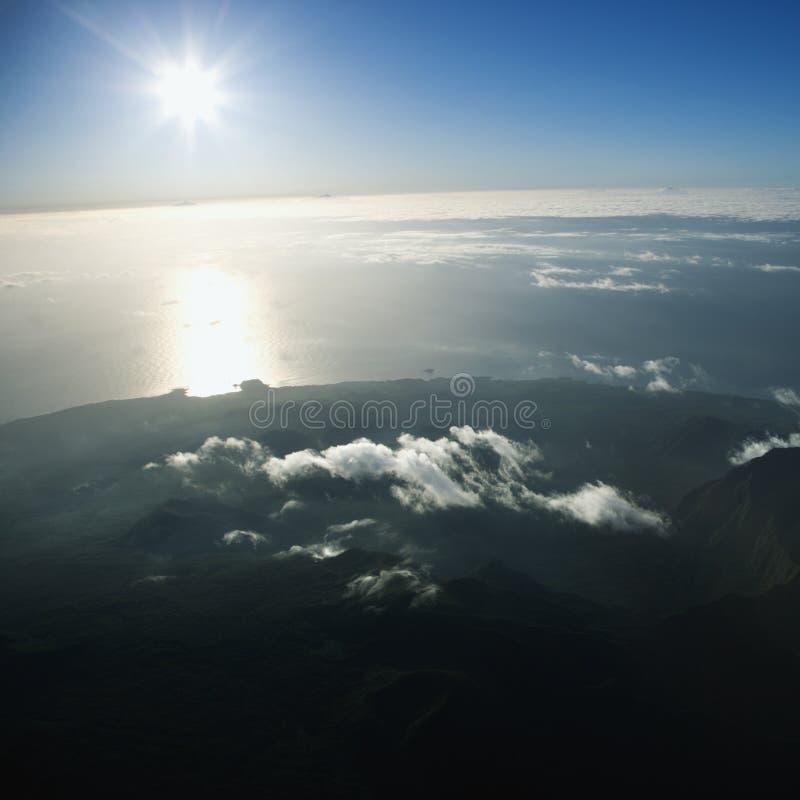 Antena de Maui. fotografia de stock royalty free