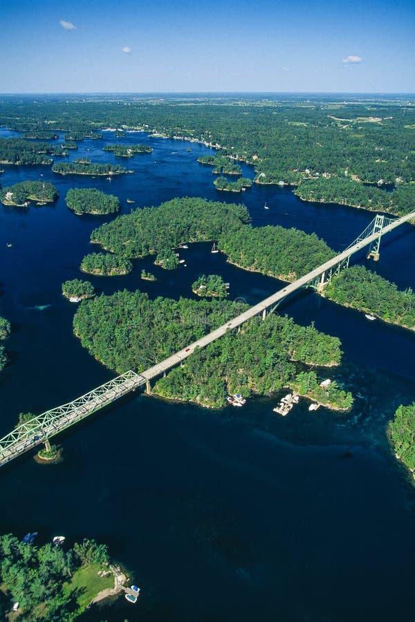 Antena de mil puentes de las islas, Ontario, Canadá imagen de archivo libre de regalías