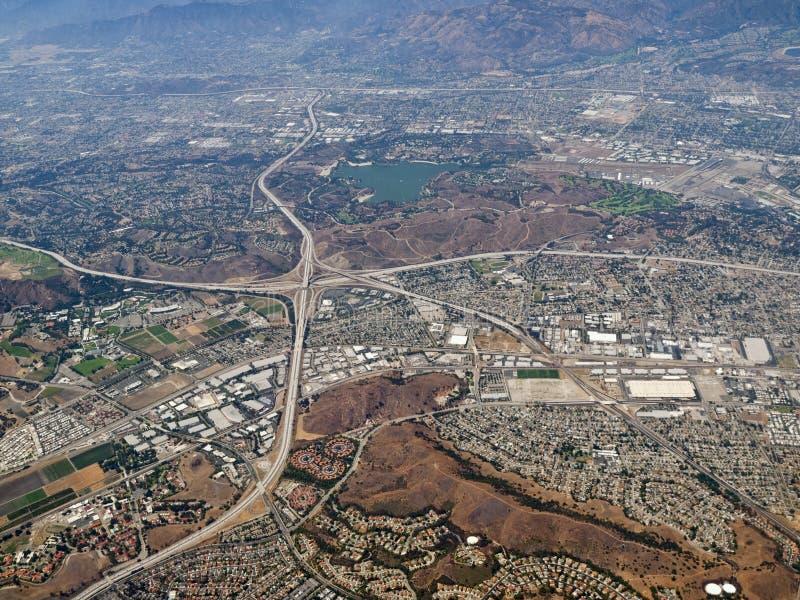 Antena de Pomona y de San Dimas California imagenes de archivo