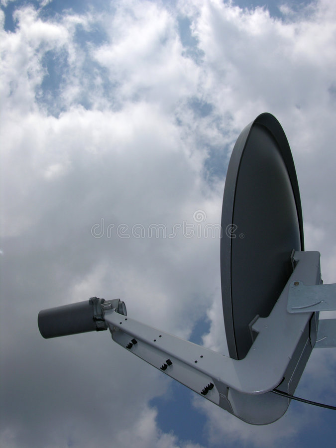 Antena de prato satélite fotos de stock