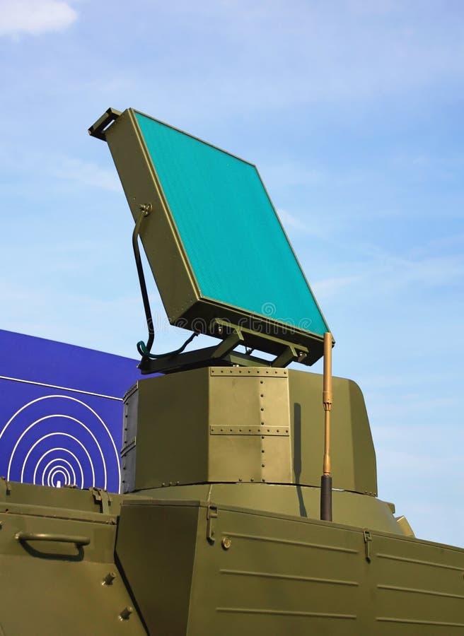 Antena de radar do sistema da defesa aérea imagens de stock royalty free