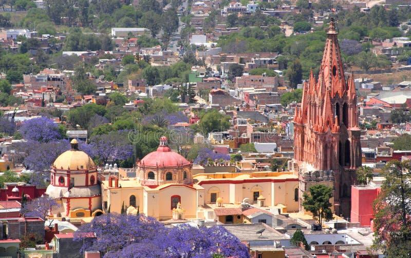 Antena de San Miguel de Allende imagens de stock