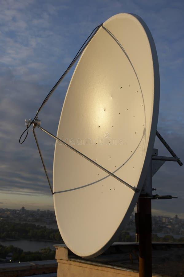 Antena de Satcom imagen de archivo
