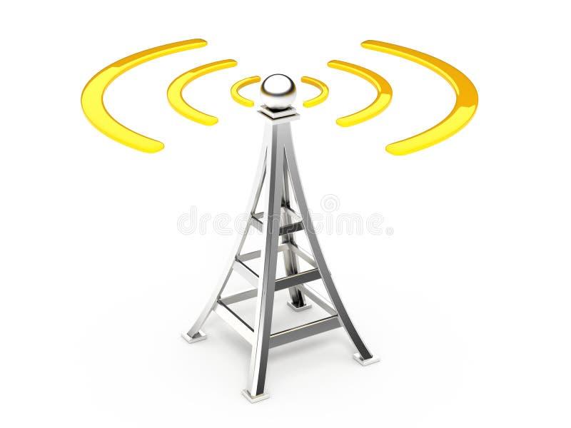Antena de uma comunicação ilustração do vetor