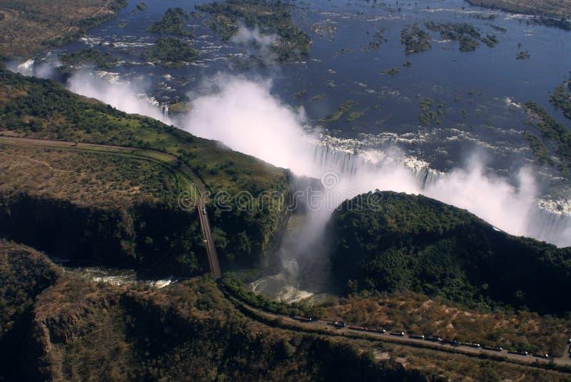 Antena de Victoria Falls foto de stock royalty free