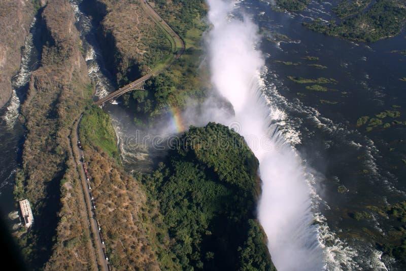Antena de Victoria Falls imagens de stock
