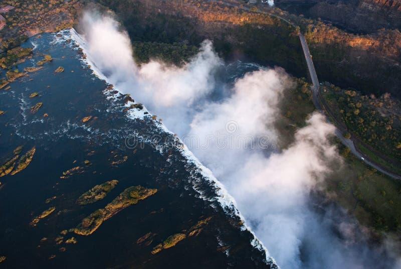 Antena de Victoria Falls imágenes de archivo libres de regalías