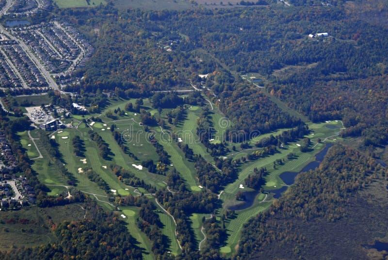 Antena del campo de golf de Barrie imagenes de archivo