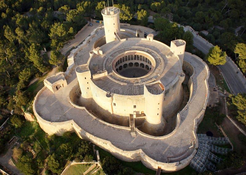 Antena del castillo de Bellver fotografía de archivo libre de regalías