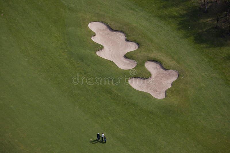 Antena del golf imágenes de archivo libres de regalías