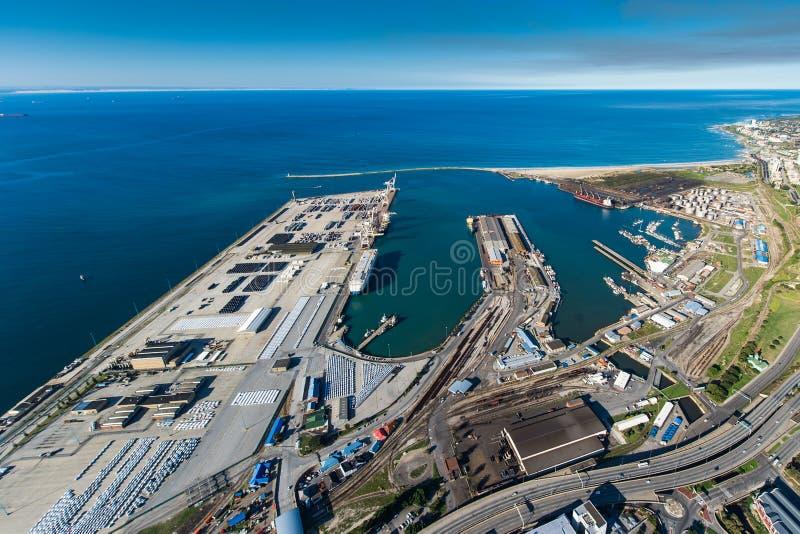 Antena del puerto Suráfrica de Port Elizabeth fotografía de archivo libre de regalías