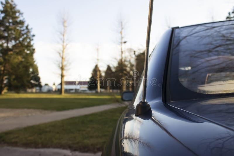 Antena do carro fotografia de stock