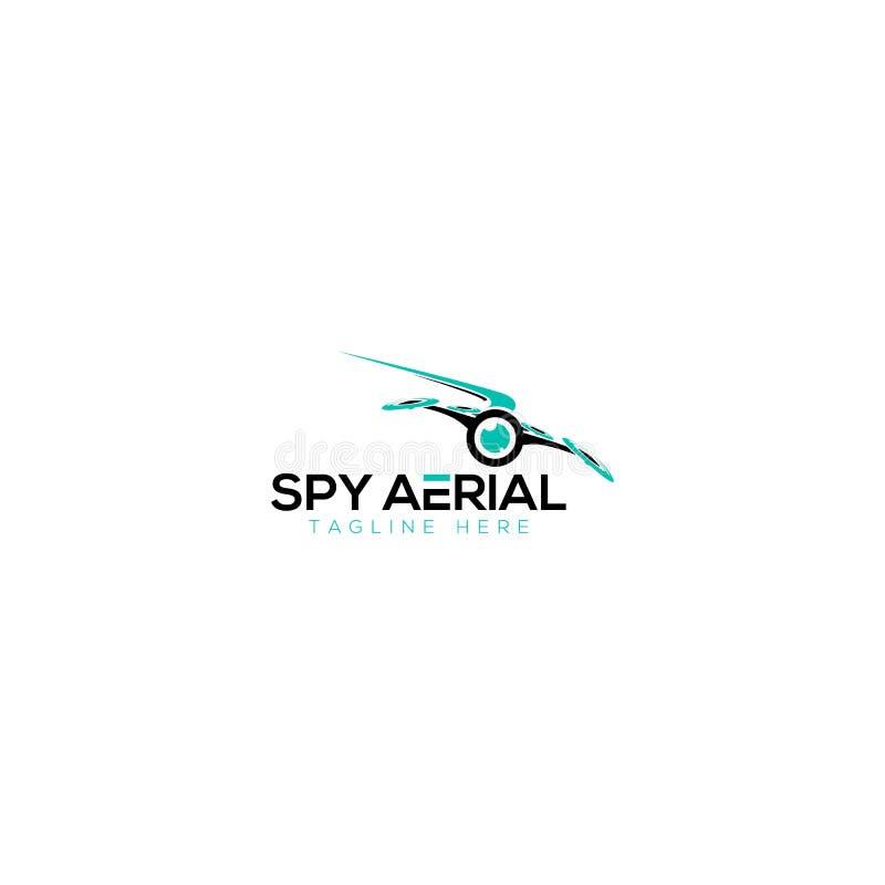 Antena do espião e zangão Logo Design ilustração stock