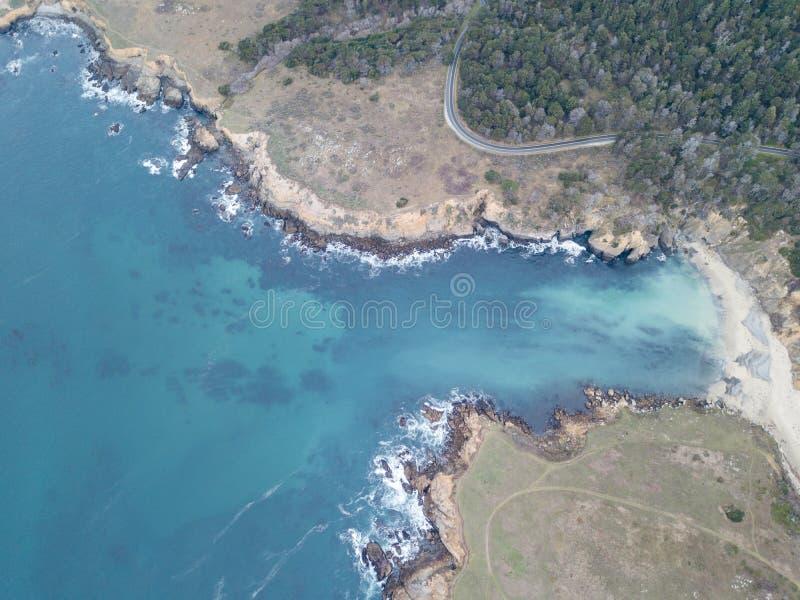 Antena do litoral bonito de Sonoma em Califórnia fotos de stock royalty free
