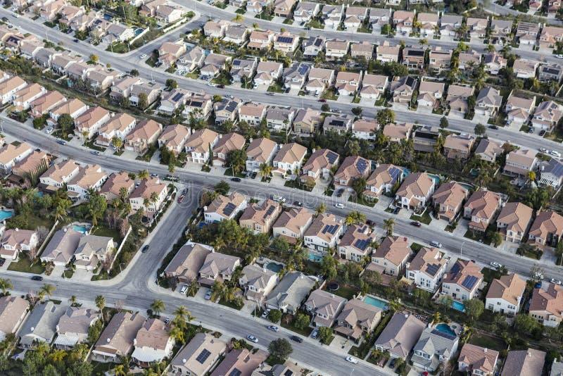 Antena do subúrbio de Califórnia imagem de stock royalty free