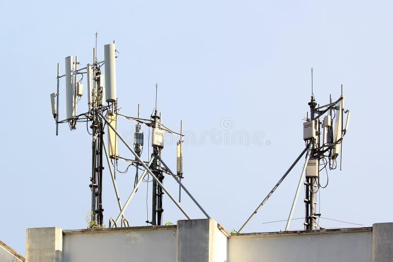 Antena do telefone celular foto de stock