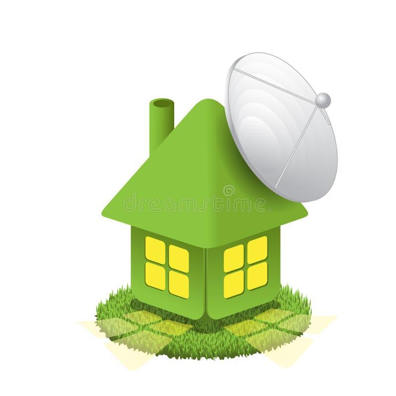 antena dom ilustracja wektor