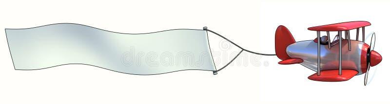 Antena en blanco que hace publicidad stock de ilustración