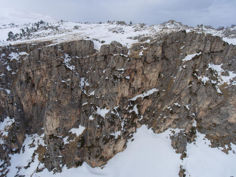 Antena krajobraz Truteń fotografia Skalisty plateau obraz stock