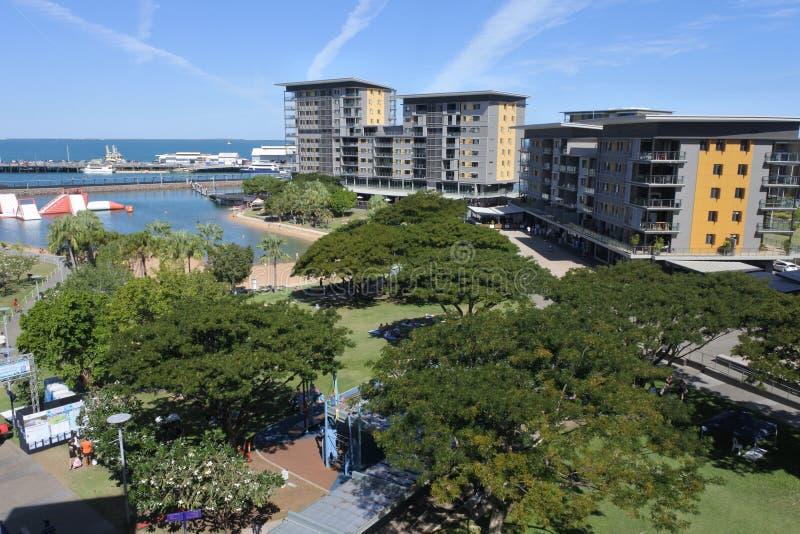 Antena krajobrazowy widok Darwin nabrzeża dzielnicy terytorium północne Australia zdjęcia royalty free