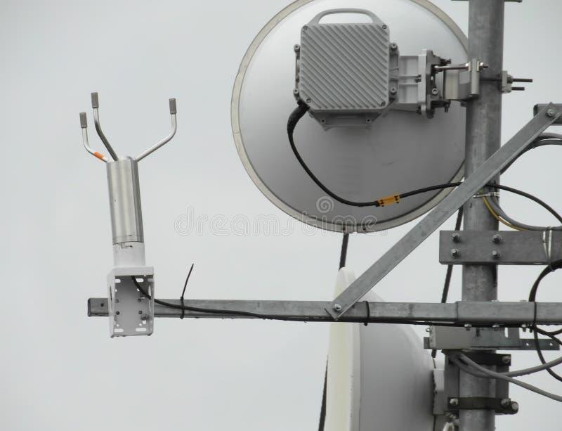 Antena na słupie fotografia stock