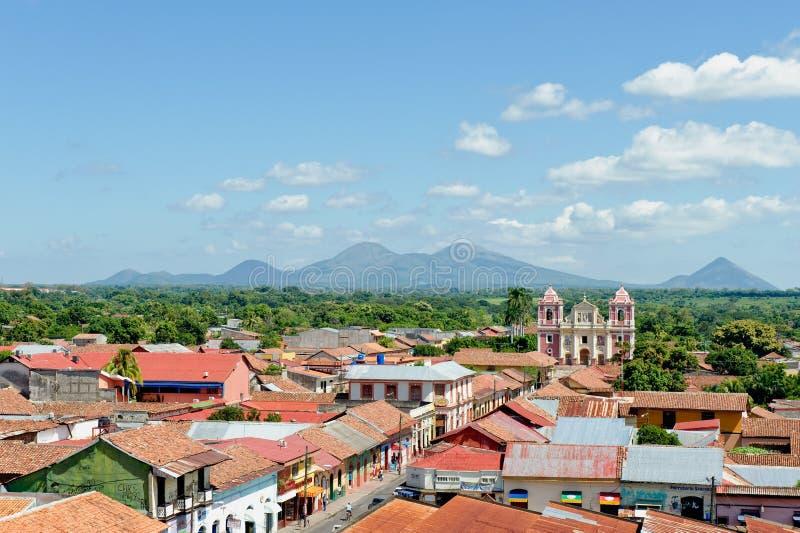 Antena Nicaragua de la ciudad de Leon fotos de archivo libres de regalías
