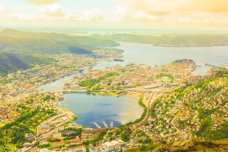 Antena Noruega de Bergen foto de stock royalty free