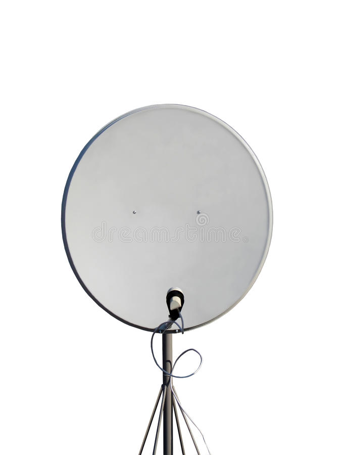 antena odizolowywająca przypowieściowa pilonu satelita pojedyncza obraz royalty free