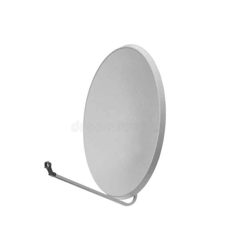 Antena parabólica aislada en blanco imagenes de archivo