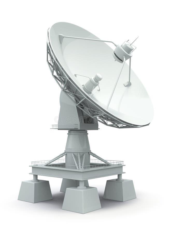 Antena parabólica. Communiation. ilustração royalty free