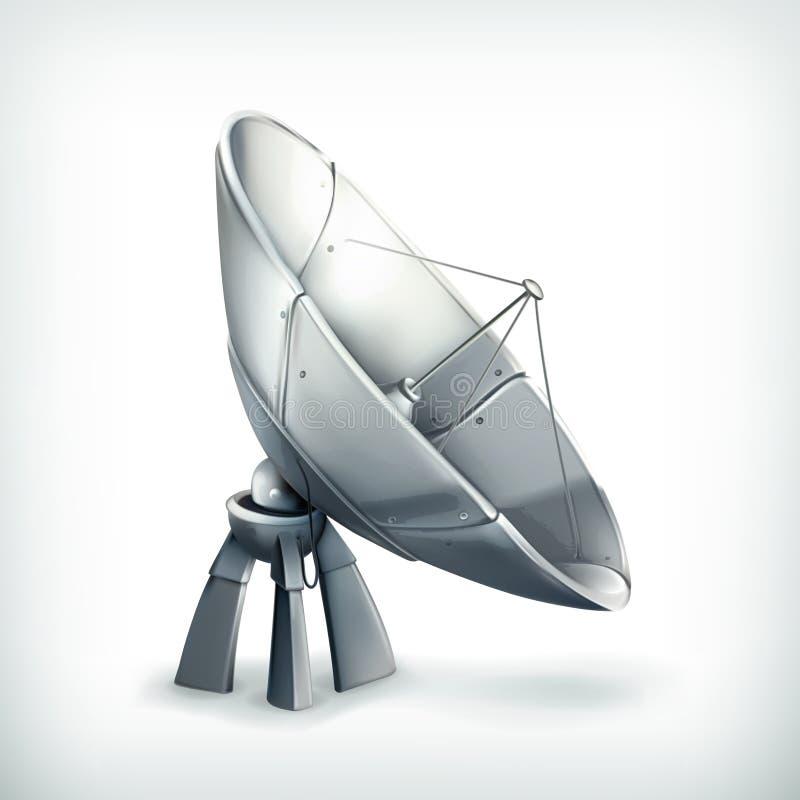 Antena parabólica, icono stock de ilustración