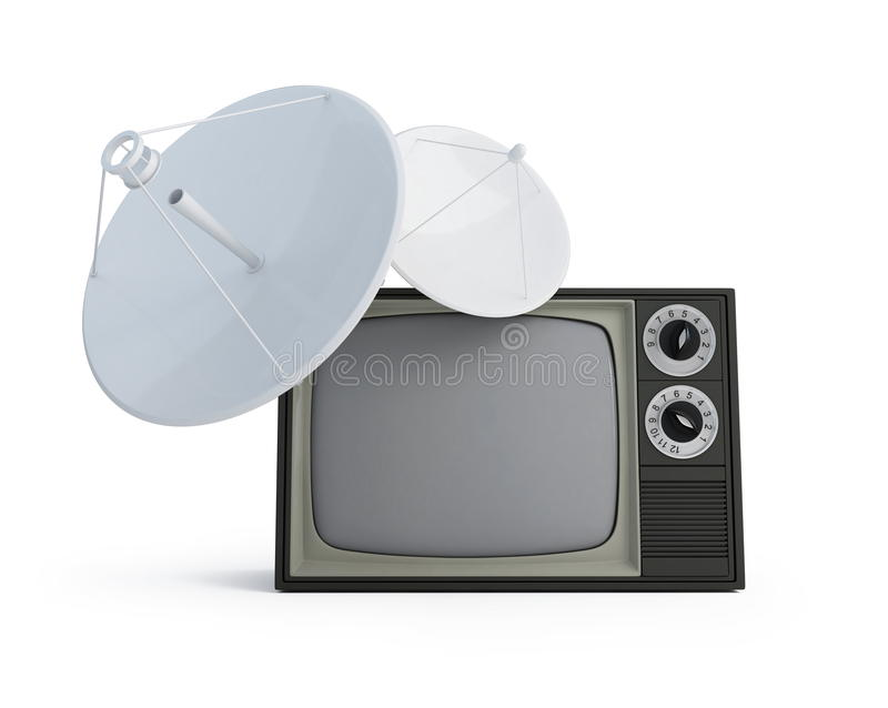 antena przypowieściowy tv royalty ilustracja