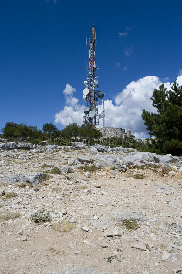 Antena radiofonico fotografia stock