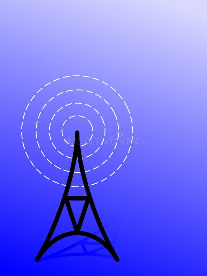 Antena/radiowy wierza (wektor) ilustracja wektor