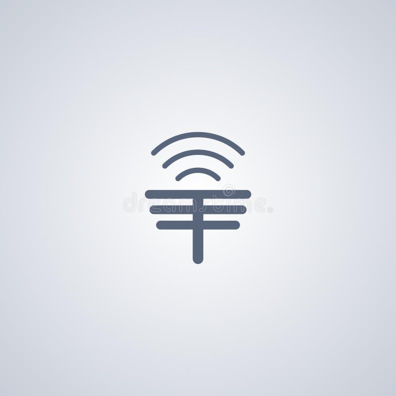 A antena, rede, vector o melhor ícone liso ilustração do vetor