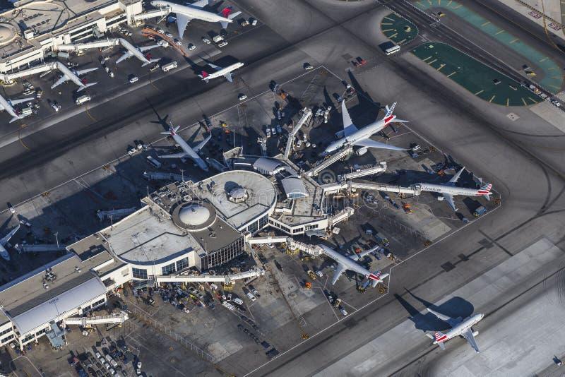 Antena RELAXADO do terminal de aeroporto de Los Angeles fotos de stock royalty free