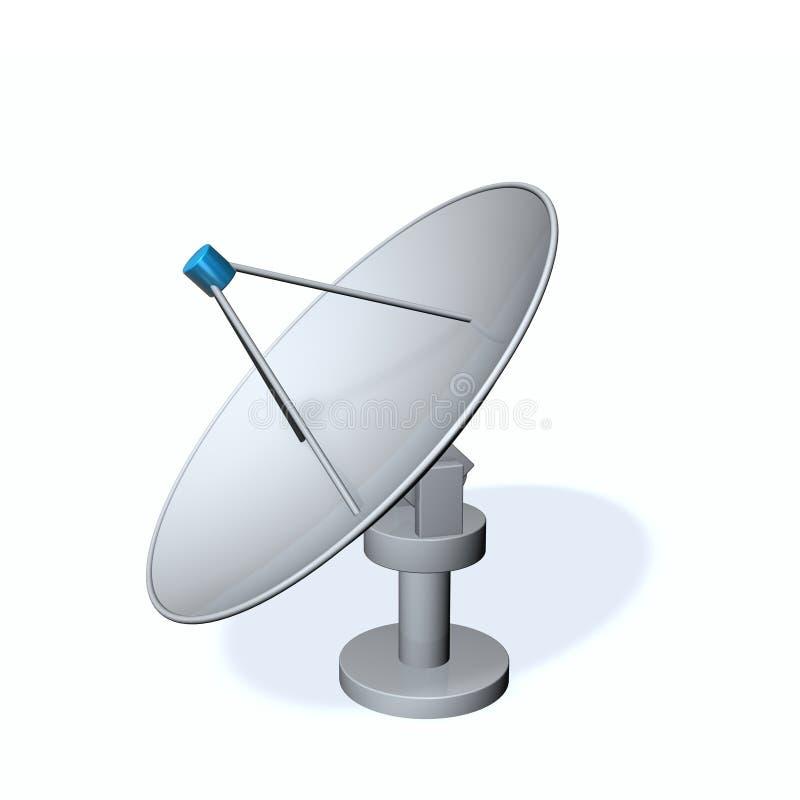 Antena satélite ilustração stock