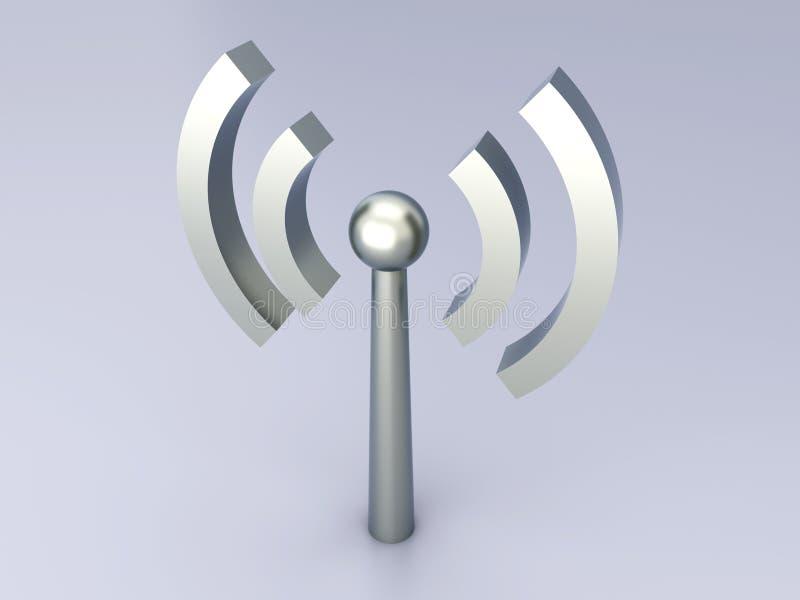 Antena sin hilos stock de ilustración