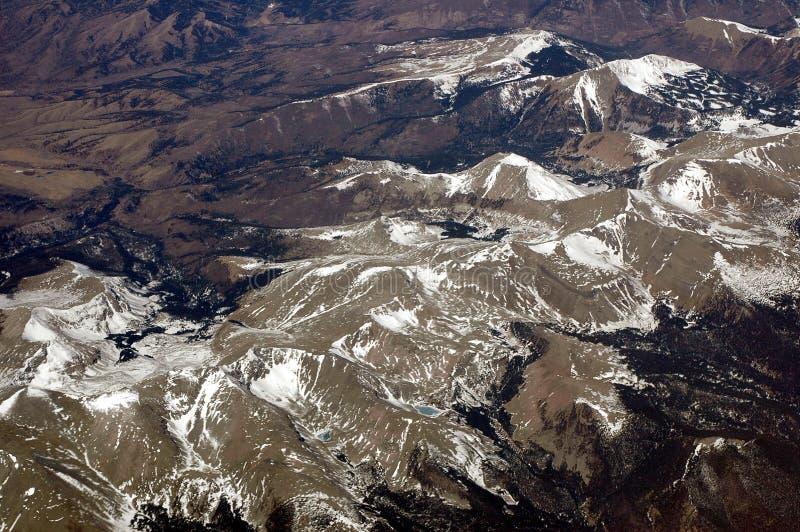 Antena sobre as montanhas rochosas 2 imagem de stock royalty free