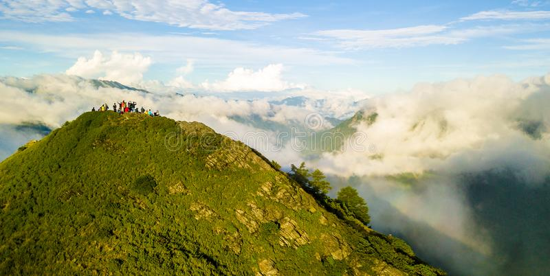 Antena strzału Hehuanshan góra obraz royalty free