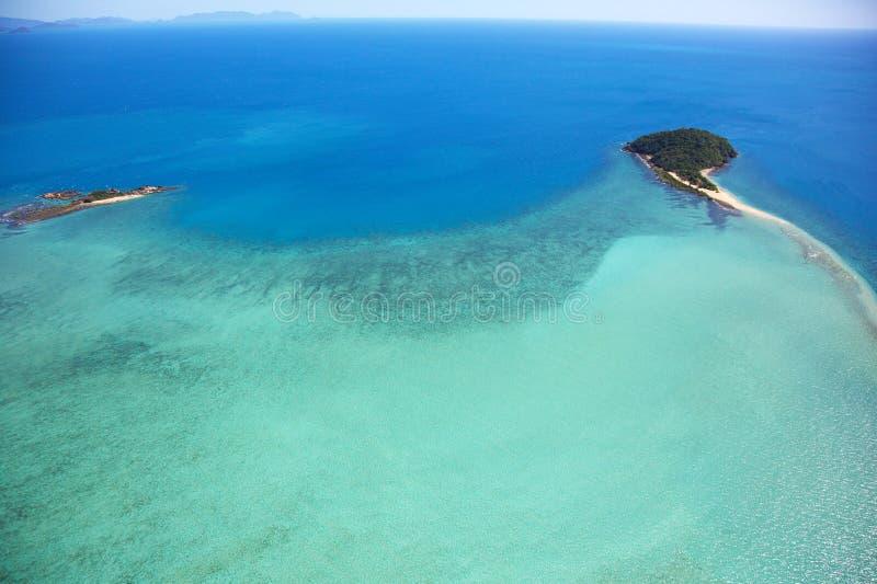Antena tropical da ilha imagens de stock