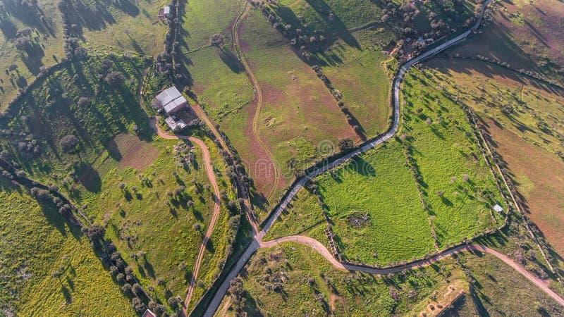 antena Widok z góry odpowiada gromadzkiego Evora Portugalia zdjęcie royalty free