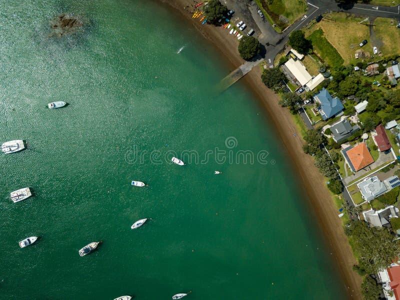 Antena, wierzchołka puszka zatoka wyspy Nabrzeżne widok zdjęcie stock