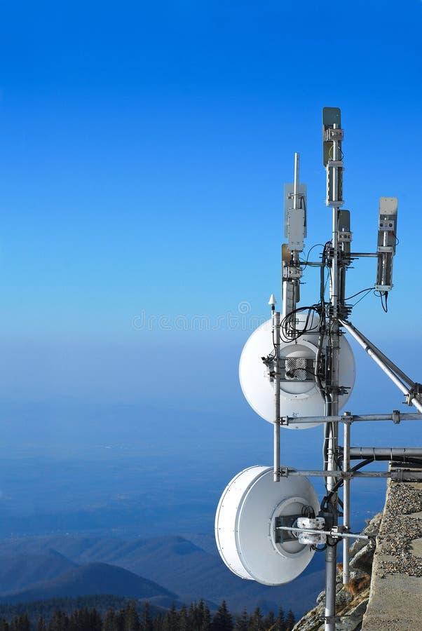 Antenas da rede fotografia de stock