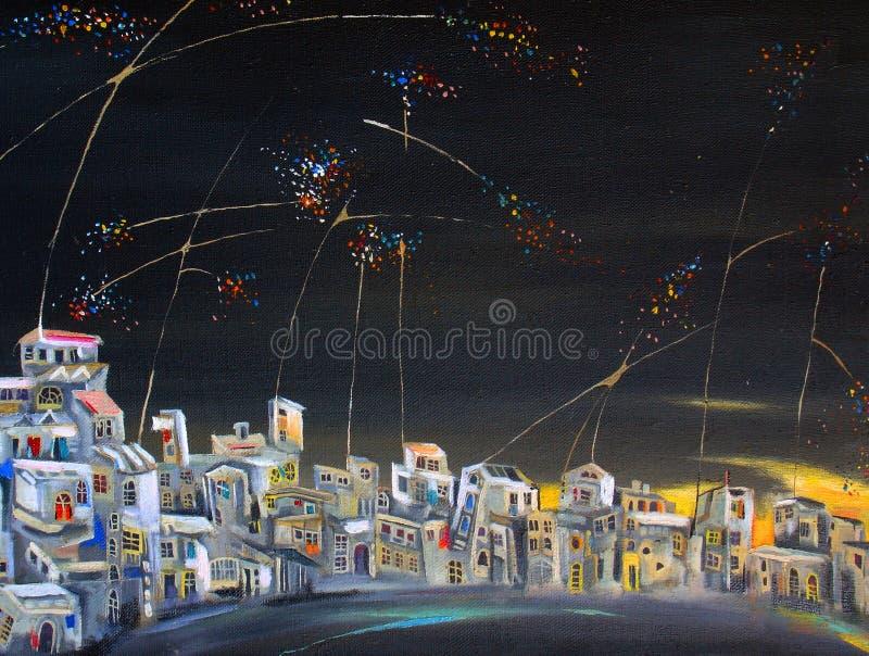 Antenas de la noche imagenes de archivo