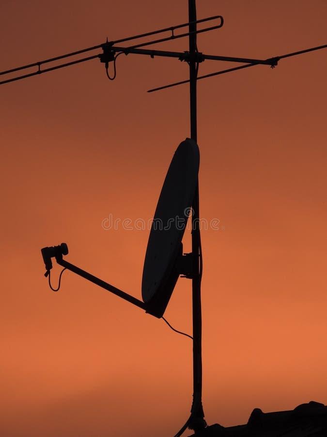 Antenas de TV foto de archivo