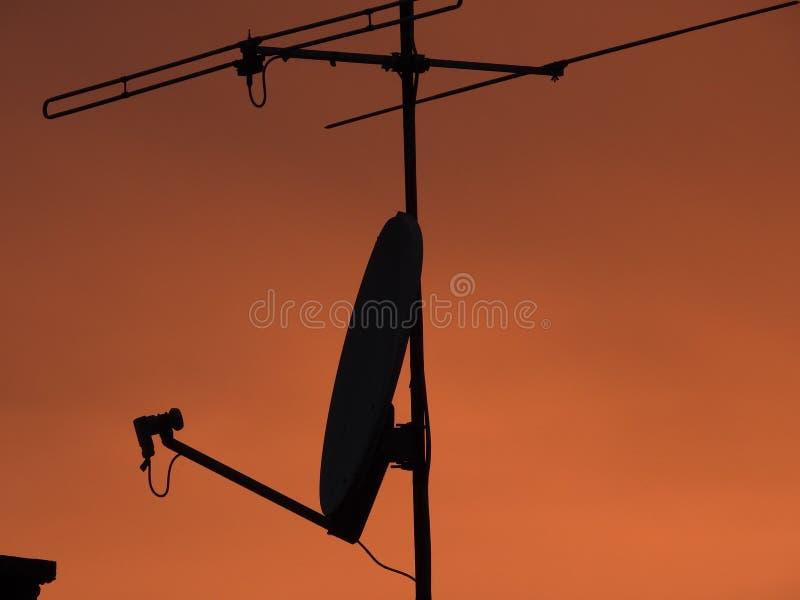 Antenas de TV fotos de archivo