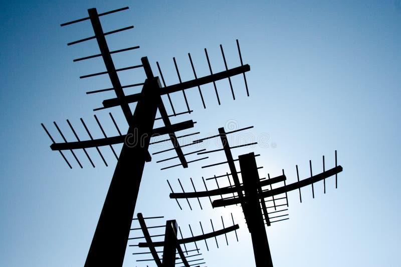 Antenas del cielo imagen de archivo libre de regalías